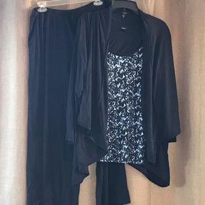 Midnight by Carole Hochman Intimates & Sleepwear - 3 piece pajama set